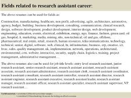 16 fields related to research assistant sample research assistant cover letter