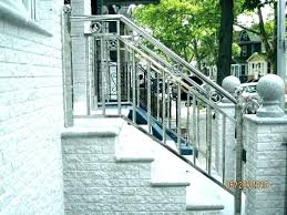 outdoor steps kit rod iron hand railing metal railings outdoor stair kit concrete steps wrought handrail