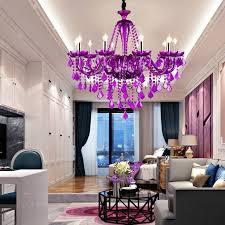 european crystal candle chandelier purple girls bedroom children s room chandelier lighting living room dining clothing