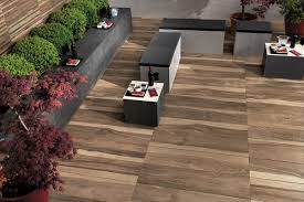 Modern Patio Design with Looks Like Wood Outdoor Porcelain Tile