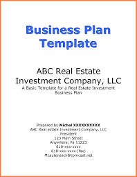 example of a business plan business plan cover page example business form templates for