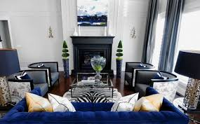 Blue And Black Living Room Decorating Ideas using black and white color to  decorate your living room interior decor home