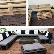 diy pallet outdoor sectional sofa