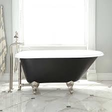54 miya cast iron clawfoot tub hort shower curtain liner short
