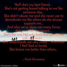 Yes Shes My Best Frien Quotes Writings By Prachi