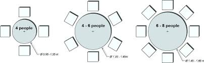 10 person dining table size round for dimensions measurements
