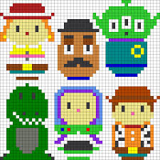 Toy Story Perler Bead Pattern Bead Sprites Characters