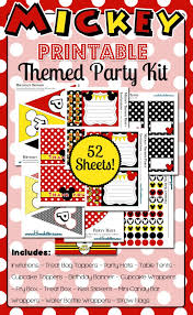 Mickey Mouse Party Printables Free Mickey Mouse Themed Party Printables Huge Kit Free For 48 Hours