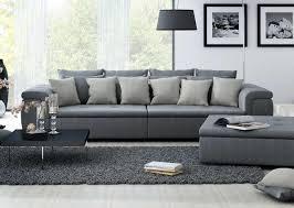 Big Sofa Mit Sessel Big Sofa Mit Einem Feinem Webstoff In