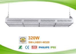 320w led linear lighting high bay pendant lights with motion detector sensor