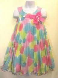 Bonnie Jean Girls Multi Color Chiffon Birthday Pageant Dress