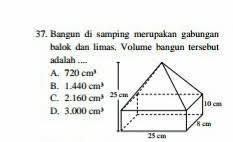 Salah satu hal yang harus diperhatikan dalam mencari volume gabungan bangun ruang adalah ukuran dari masing masing unsur bangun tersebut. Rumus Gabungan Balok Dan Limas Edukasi Lif Co Id