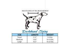 Dachshund Size Chart Dachshund Size Chart Dachshund Clothes Dachshund