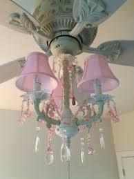pink chandelier lighting. Pink Chandelier Ceiling Fan And Light Kit (fandelier) - Perfect For My Little Girls Room! Lighting