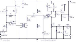 simple circuit diagram tv wiring diagram load tv transmitter circuit using only 2 transistors operates from 12v simple led tv circuit diagram simple circuit diagram tv