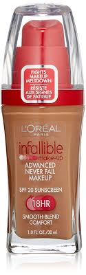 amazon l oreal infallible advanced never fail makeup clic tan 1 fluid ounce foundation makeup beauty