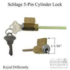 cylinder lock sliding patio door 5 pin tumbler keyed diffe