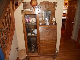 secretary desk curio cabinet w mirror 71 h x 37 w