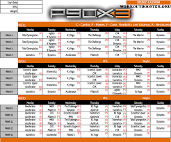 P90x3 Workout Schedule Sport1stfuture Org