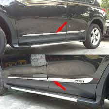 Amazon.com: Chrome Body Side Door Moulding Trim Overlay Cover For ...