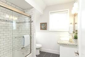 beveled subway tile shower ideas slate floor white wall best looks for the bathroom city living bathrooms extraordinary 2 grout courtesy of dig