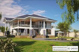 4 bedroom house designs. 4 Bed Contemporary Villa Plan - ID 24503 Bedroom House Designs