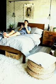 best teen furniture. Industrial Teen Bedroom Makeover Leon S Furniture We Opted To Line The Focal Wall Best Ideas