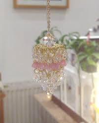 Dollhouse Electric Lights Dollhouse Electric Light Chandelier Gold Plated Crystal