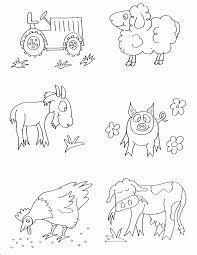 Small Picture Coloring Pages Of Farm Animals Coloring Coloring Pages