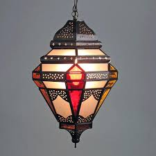 tin pendant light frosted multi colored glass moroccan fixture canada chandelier lamp ceiling