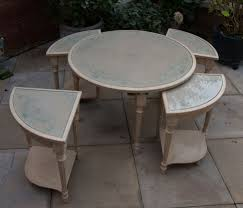 round coffee table with nest of four small tables shabby chic intended for