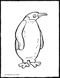 Gratis Kleurplaten Printen Dieren Leuke Pinguïn Tropicalweather
