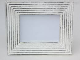 vintage white washed wooden photo frame enlarge image