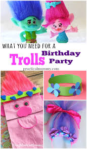what you need for a trolls birthday party invitations crafts decorations thank