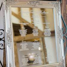 Mirror Table Seating Chart Wedding Table Plan Mirror Midway Media