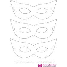 Card Masks To Decorate Mask Templates Hen Party Superstore 71