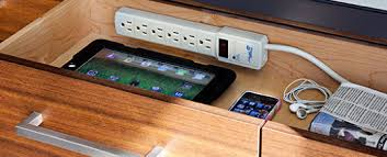 Organizing Tip of the Day: Create a charging station in a drawer