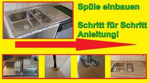Küchenspüle einbauen – Spüle in Arbeitsplatte einsetzen ...