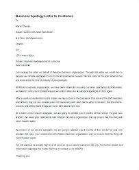 Apologize Business Letter Customer Service Apology Letter Template Creative Business To