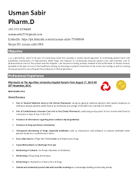 cv pharmacy cv haad pharmacist 1 usman sabir