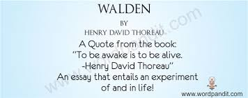 walden by henry david thoreau wordpandit book review for walden