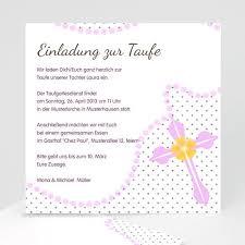 Einladungskarten Taufe Mädchen Zartrosa Carteland Gratis Probedruck