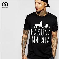 Men's fashion short sleeved T shirt summer <b>HAKUNA MATATA</b> ...