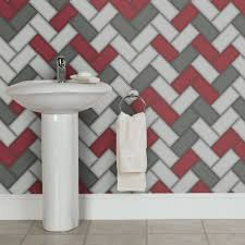 holden chevron tile pattern wallpaper stripe glitter faux effect kitchen bathroom 89303