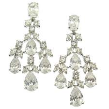 large gold chandelier earrings large white gold 7 carats of diamonds chandelier earrings large rose gold
