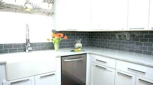 glass subway tile colors gray extravagant grey white kitchen cabinets with backsplash grout
