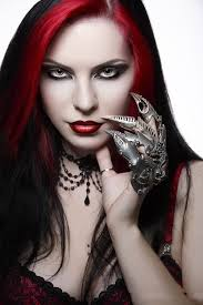 gothic young in dark red make up appearance 1 gothic makeup ideas