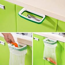 best solid hanging kitchen cabinet cupboard door back stand trash rack style storage garbage bags trash holder vovotrade under 4 24 dhgate com