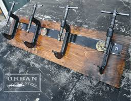 Beer Tap Coat Rack Industrial C Clamp Coat Rack I Think I Would Like This Better If It 7