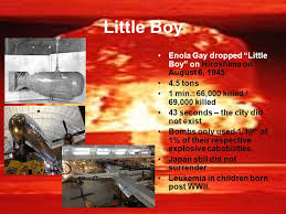Resultado de imagen para little boy hiroshima